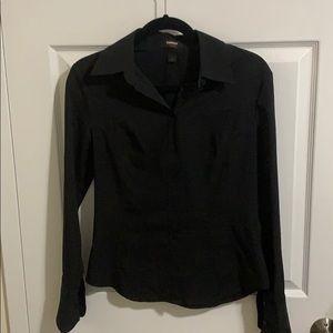 Express Black Button Down Shirt